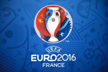 The logo for the UEFA Euro 2016 championships is seen at the Palais des Congres in Paris on December 12, 2015, ahead of the draw for the Euro 2016 finals. Paris hosts the draw for the Euro 2016 finals on December 12 evening, with less than six months now to go before the start of the first 24-team tournament in the competition's history. The coaches of the competing nations will be in attendance in the French capital to find out who their sides will come up against in the group stage of the European Championship, which kicks off on June 10, and what their route to the final might be.   AFP PHOTO / LIONEL BONAVENTURE / AFP / LIONEL BONAVENTURE        (Photo credit should read LIONEL BONAVENTURE/AFP/Getty Images)